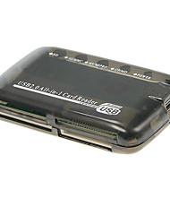USB 2.0 todo-en-1 lector de tarjetas de memoria (Negro)