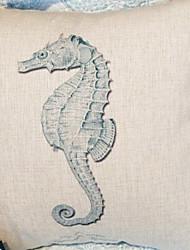 Coussin décoratif Motif Hippocampe gracieux avec insert