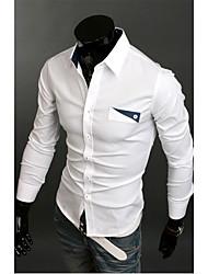 Casual pcoket Enfeite a camisa dos homens
