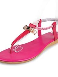 Лакированная кожа Женская плоским пятки флип-флоп сандалии с бантом обувь (больше цветов)