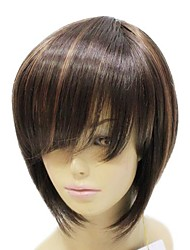 Capless High Quality Synthetic Brown Short Wig
