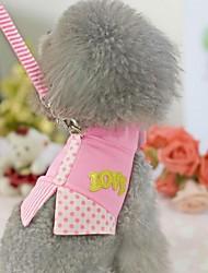 Suit Pet poitrine bretelles brodé pour Animaux Chiens (couleurs assorties, Tailles)