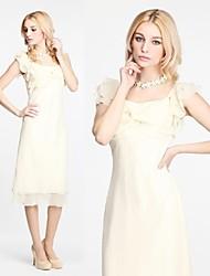 Damen Kleid Sexy Midi / Mini Polyester