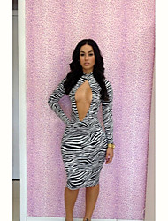 Women's Dresses , Polyester/Spandex Casual Deissy