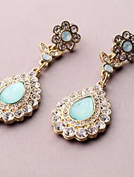 MISS U Frauen Vintage-Voll Smaragd-Party-Ohrringe