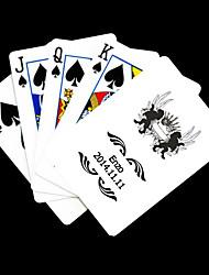 Regalo personalizado Negro y patrón de dibujos animados Blanco Playing Card para Poker