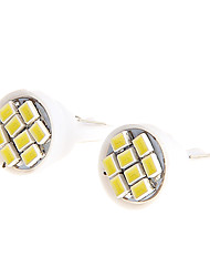 2PCS Ultra Blanc 8SMD LED 3020 T10 Wedge Ampoule Side ampoule lampe pour la moto