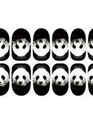 12PCS Panda teste padrão da arte do prego Luminous Stickers