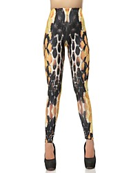 Elonbo Chromatic Scales Peinture Style numérique Tight Leggings