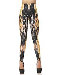 Elonbo Chromatic Scales Style Digital Painting Tight Women Leggings