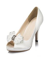 Women's Wedding Shoes Heels/Peep Toe Heels Wedding/Party & Evening Black/Blue/Purple/Red/Ivory/White