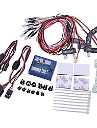New No Solder Realistic 12 LED Lighting Kit for RC Cars and Trucks
