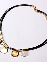 Me Rose Gold Platinum Plating Color Simple Necklace