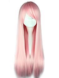 Harajuku Style High-quality Cosplay Wig Lolita Long Straight Wig Side Bang