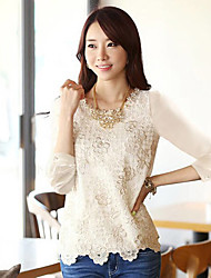Women's Cotton/Polyester Casual/Cute SHINELEE