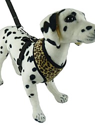 Dog Harness / Leash Zebra Black / Brown Sponge