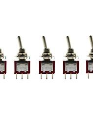 Jtron 6 broches Deux tranches Interrupteur à bascule ON-ON (5 PCS)