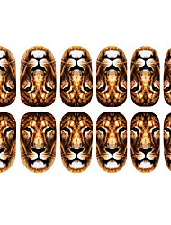 Motif 12PCS Lion Nail Art Stickers lumineux