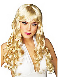 Fancy Ball Synthetic Party Wig Charming Medium Wavy Wig(Blonde)