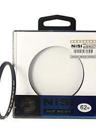 НИСИ 62mm MC UV Ультрафиолетовый Ультратонкий двусторонняя Многослойное покрытие линз Фильтр протектор для Nikon Canon камер Sony