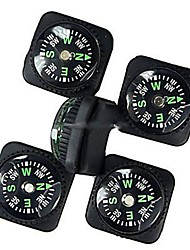 20mm Outdoor Survival Mini Compass with PU Leather Watch Attachment Design - Black (5PCS)