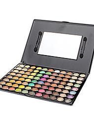 88 Palette de Fard à Paupières Sec / Lueur / Matériel Fard à paupières palette Poudre Grand Maquillage de Fête / Maquillage Smoky-Eye