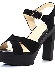 Leather Women's Chunky Heel Platform Sandals Shoes(More Colors)