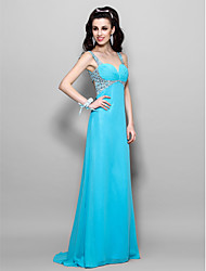 TS Couture Prom Formal Evening Military Ball Dress - Beautiful Back A-line Princess Sweetheart Straps Floor-length Chiffon withBeading