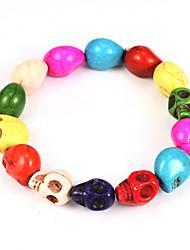 Multicolor Strand bracelet de silicone de 21cm femmes punk de crâne (1 PC)