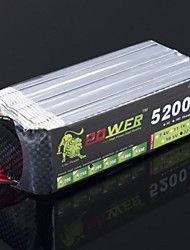 Leeuw 22.2V 6S 5200mAh 30C Lipo Battery Power voor Trex RC Helicopter 550 600 (T Plug)