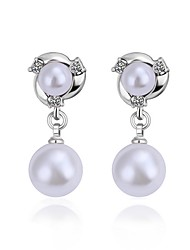Meles Korean Non-Natural Pearl Earrings