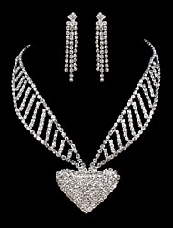 ME Vintage Luxury Austria Rhinestone Set Wedding Necklace And Earings Set T0017