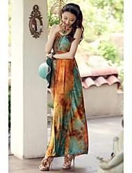 Women's Classic Braided Neck Maxi Dress
