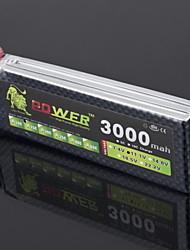 LION 11.1V 3000mAh 25C LiPo batterie (T bouchon)