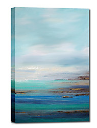 Dipinto a mano olio pittura astratta Bule cielo e mare, con telaio allungato