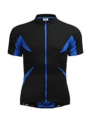 JAGGAD Bike/Cycling Jersey / Tops Women's / Men's / Unisex Short Sleeve Breathable / Quick Dry Polyester / Elastane Patchwork BlackS / M