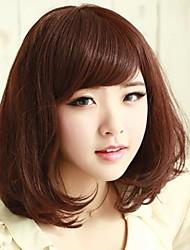 Capless 100% human Hair Medium Long Curly Hair Wig