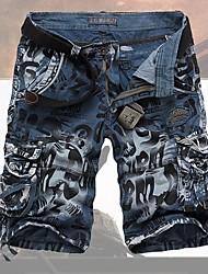 Мужская Мода Печать коротких штанишках