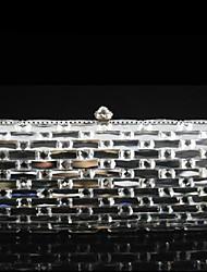 Ladies Classcial Design Glass Stone  Evening Party Clutch Bag