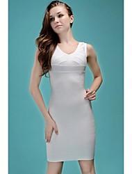 Sobre chérie cou manches Celebrity robe de bandage de femmes