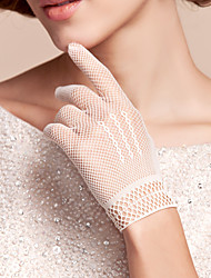Wrist Length Fishnet Glove Nylon Bridal Gloves/Party/ Evening Gloves