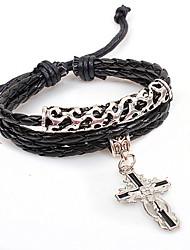 Qinuo Винтаж Средневековый Крест Змея кожи шаблон Вязание браслет (Цвет экрана)