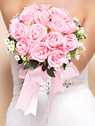 "Wedding Flowers Round Roses Bouquets Wedding Silk Pink 11.8""(Approx.30cm)"