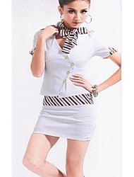Women's New Sauna Hotel Overalls Stewardess Clothing Suit (Blouse & Skirt)