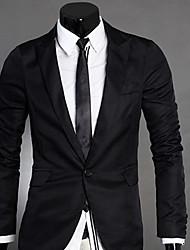 Profissão terno preto Pad Blazer Ombro U & F Homens de terno Buckle longo trabalho luva Blazer