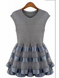 Leto Women's Casual Lace&Mesh Dress