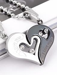 Ожерелье Ожерелья с подвесками Бижутерия Для вечеринок Повседневные В форме сердца Сердце Титановая сталь Подарок
