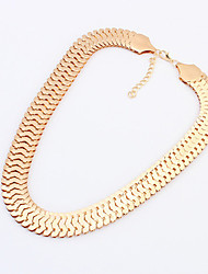 Shadela Thick Chain Silver Fashion Necklace CX125-2