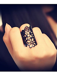 Vivianna Modern Cut Cout Lace Flower Ring (Screen Color)