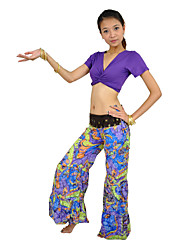Women's Bohemian Style Floral Print Linen Dance Pants More Colors